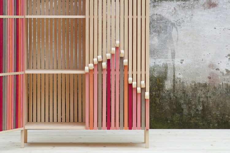 Dutch Design Week 2017 - Stoft's Wooden Cabinets Peel Away Over Time - What's your DNA? exhibition - Stoft's Whittle Away cabinets - Stoft Studio ➤ Discover the season's newest design news and inspiration ideas. Visit Daily Design News and subscribe our newsletter! #dailydesignnews #designnews #DutchDesignWeek2017 #DutchDesignWeek #DDW2017 #StoftStudio
