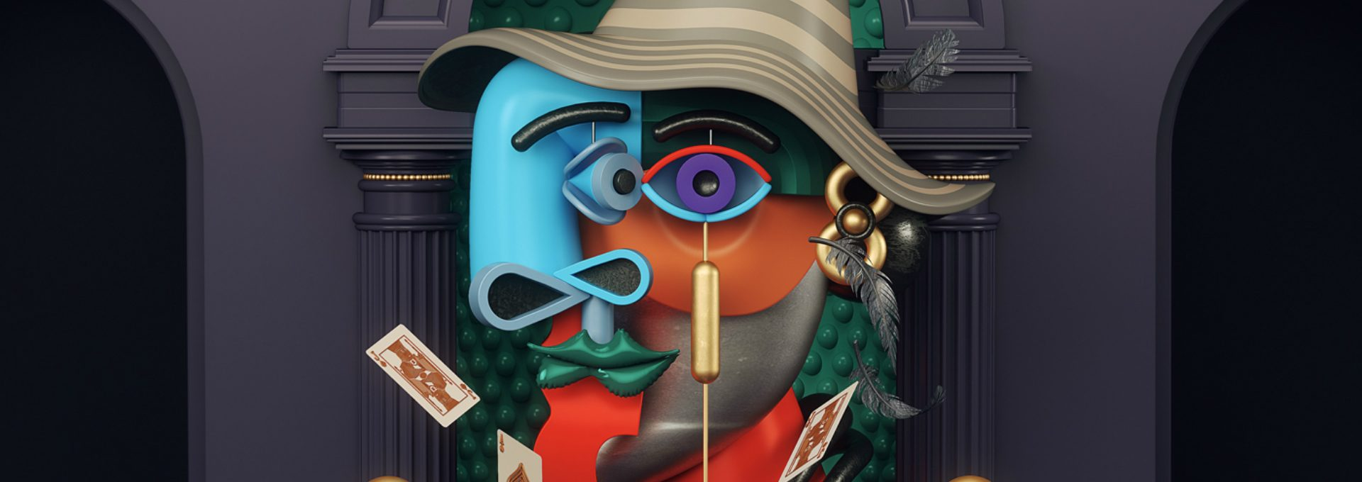 Picasso's Abstract Paintings in 3D Illustrations by Omar Aqil - Daily Design News - Contemporary Art ➤ Discover the season's newest design news and inspiration ideas. Visit Daily Design News and subscribe our newsletter! #dailydesignnews #designnews #ContemporaryArt #OmarAqil #Picasso