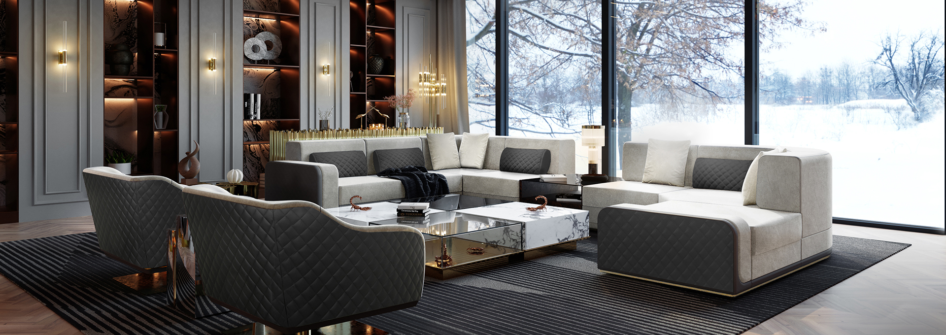 Cover Luxury Modern Classic Living Room