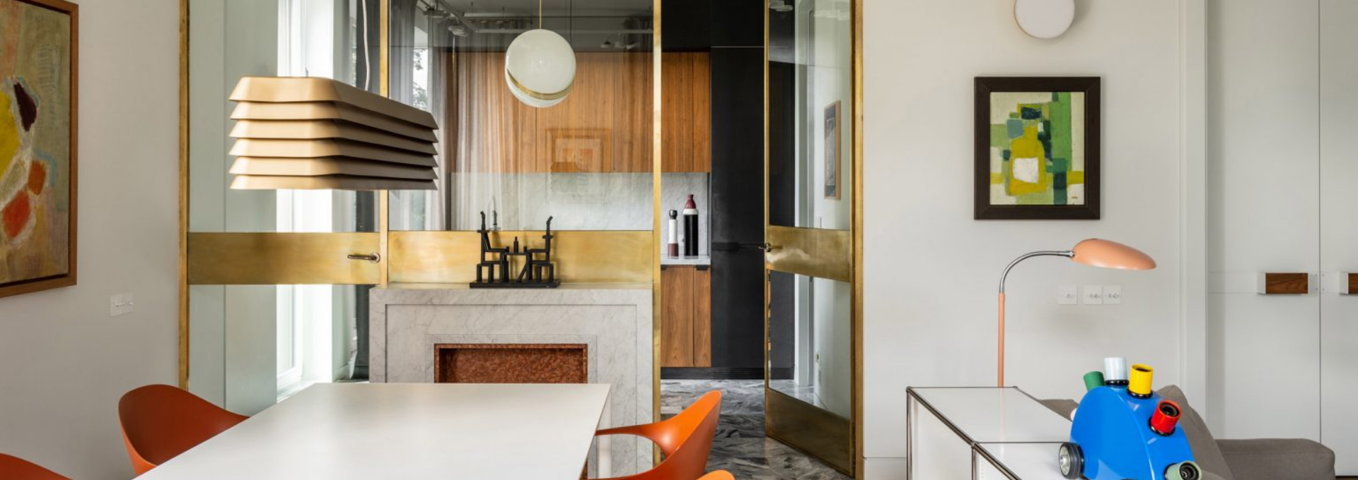 Blockstudio creates Parisian ambience in Moscow apartment