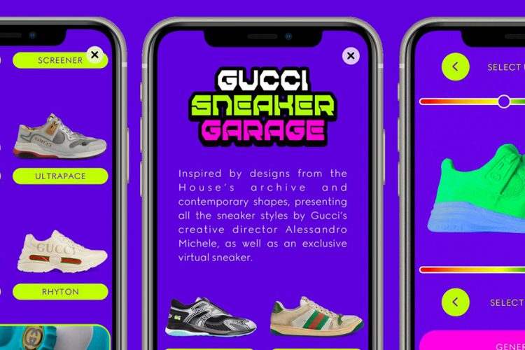 Gucci Creates First Virtual Sneakers Cover