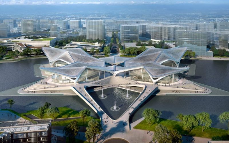 Outstanding Cultural Center in Southern China by Zaha Hadid Architects