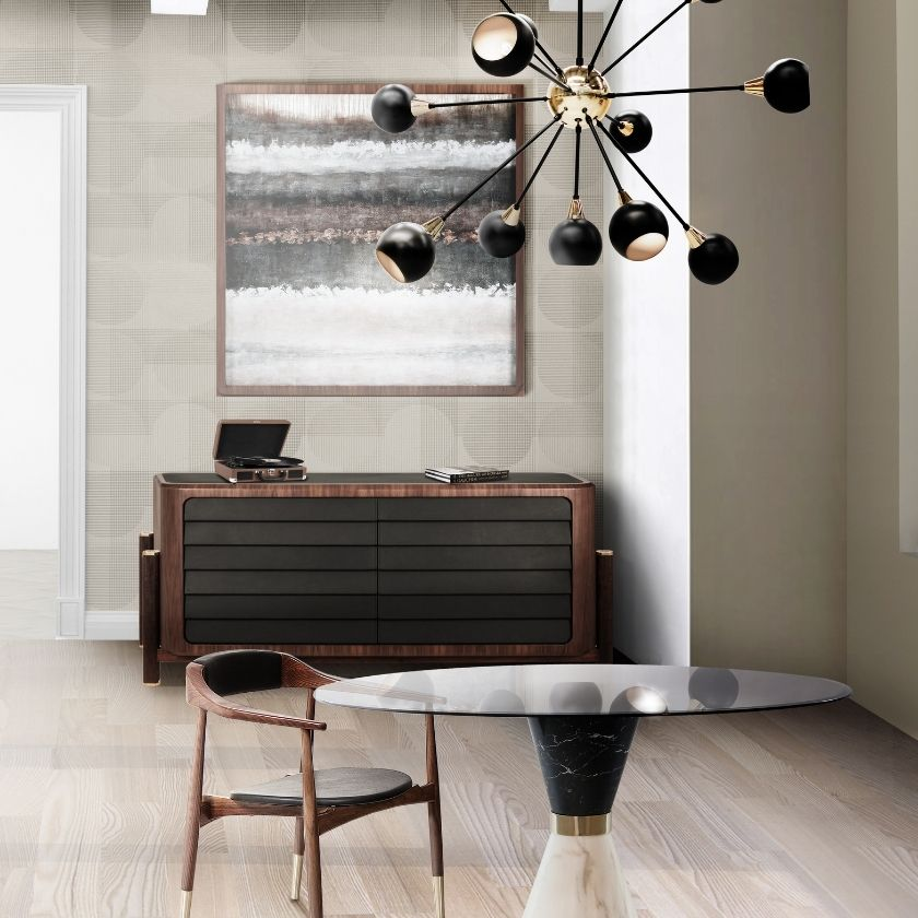 This Modern Suspension Lamp Is The WOW Piece Any Dining Room Design Needs!