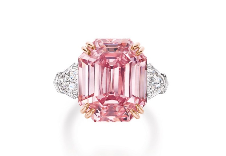 Extremely Rare 19-Carat Pink Diamond Ring - A Celebration of the 125th Birthday of the King of Diamonds