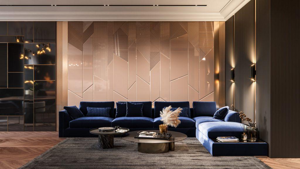 Modern Design | Luxurious Living Room by Red Robot Design