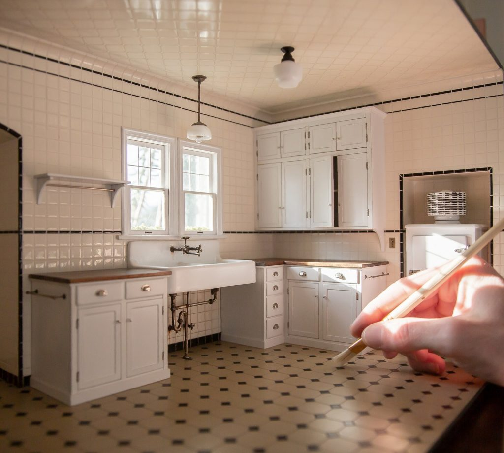 Miniature House by designer Chris Toledo. Photo Credit AD USA