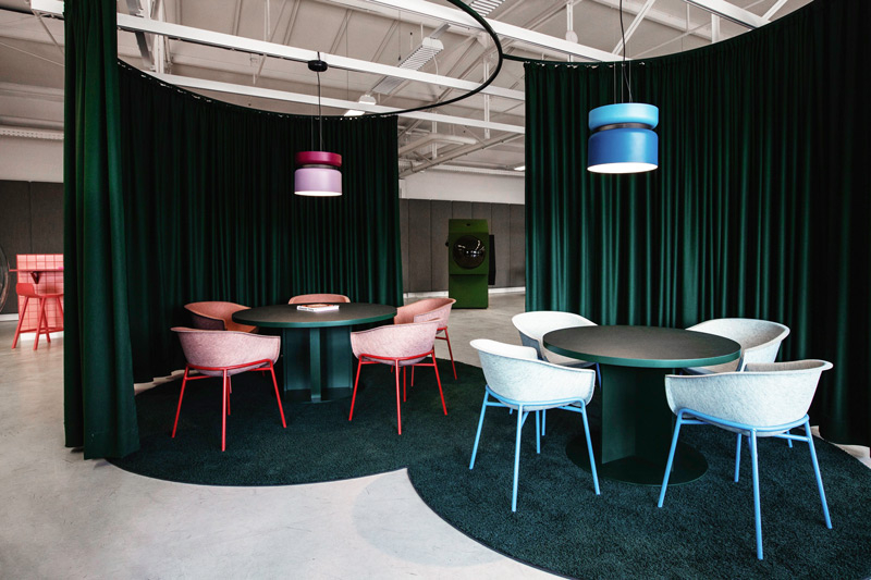 Studio Aisslinger: Unique Interior Design Projects With Colorful Rugs