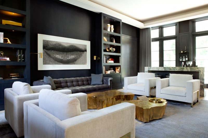 Interior Design Project: A Gold And Silver Luxury Home by Jessica Gersten