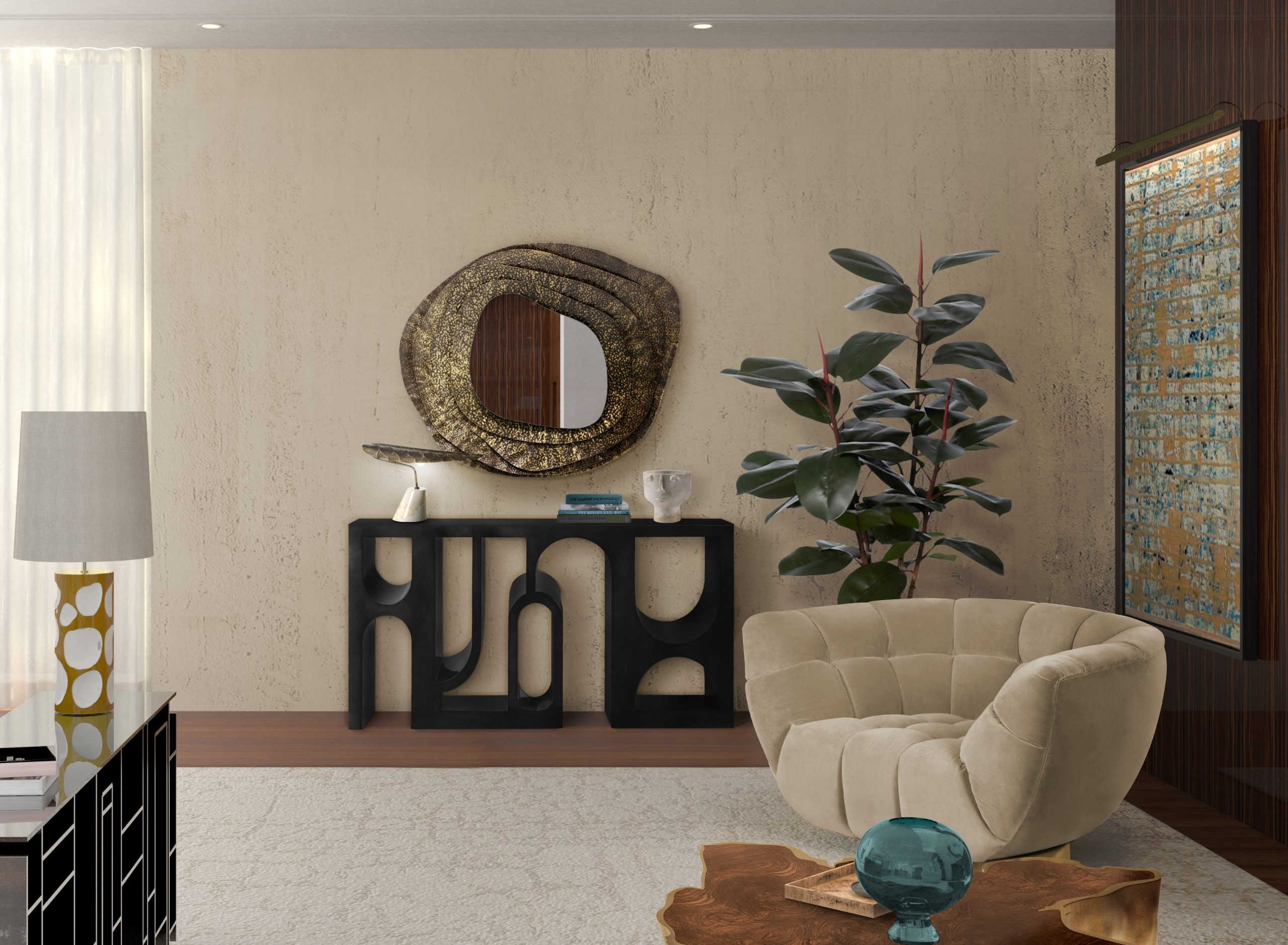 Round Mirrors: A feeling of Sophistication