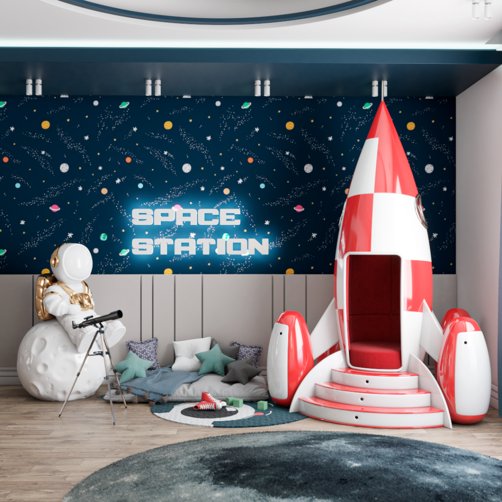 An Outer Space Mission by Renata Aquino from Cozy Studio | Rocky Rocket Armchair