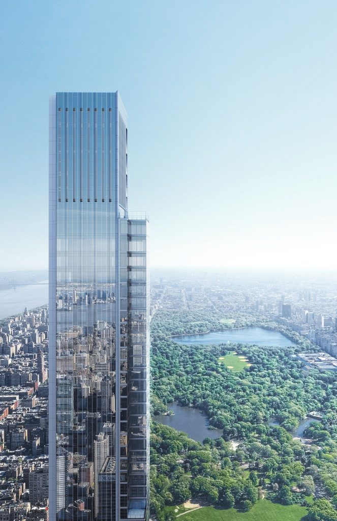 World's Tallest Residential Building in Central Park, NYC