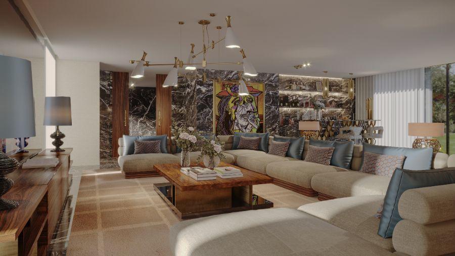 En Pleurs Living Room: A Soft Spot To Relax