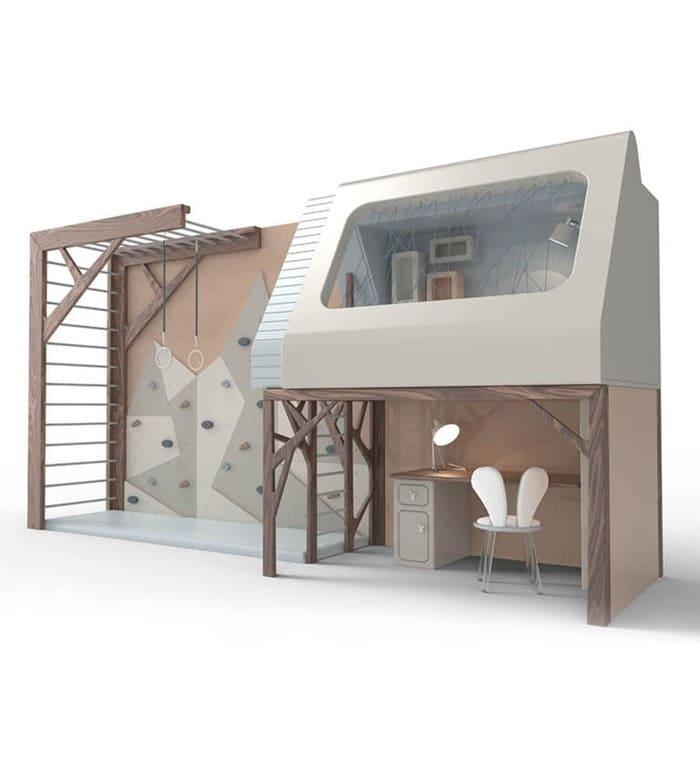 Kids' Furniture   Mogli Playhouse Bunkbed